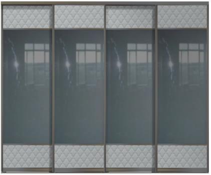 Четырехдверные двери купе - Кожа+Зеркало+Кожа