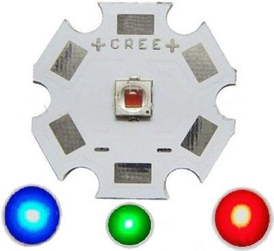 Светодиод Cree XP-E2, 12мм, 16мм, 20мм, красный, зелёный, синий