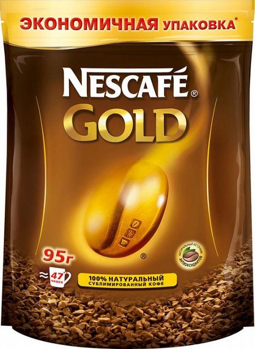 Кофе Нескафе Голд 95г пакет