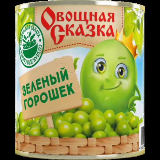 Горошек зел. Овощная Сказка ГОСТ 310г