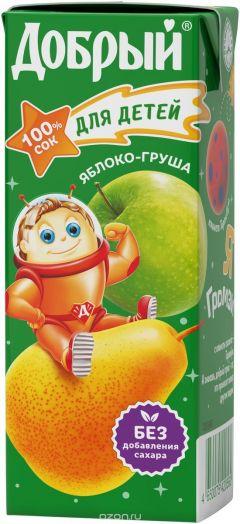 Сок Добрый 0,2л Груша/Яблоко