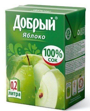 Сок Добрый 0,2л Яблочный