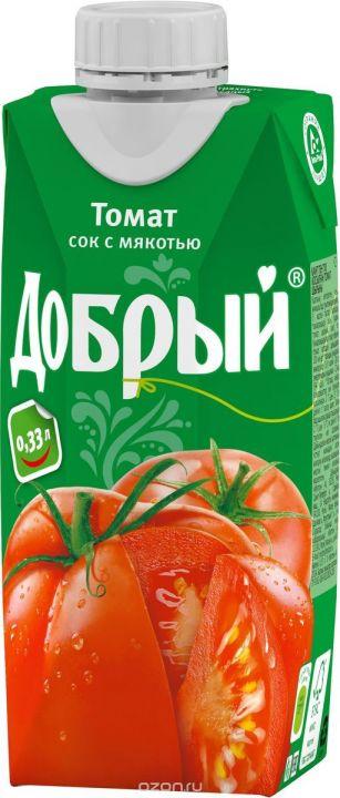 Сок Добрый 0,33л Томатный
