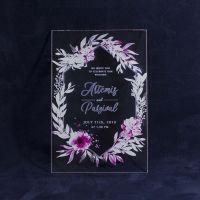 Свадебное приглашение из оргстекла с цветочным венком