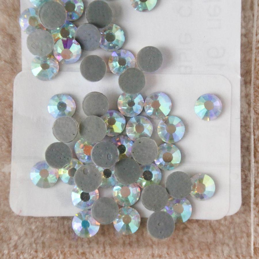 Стразы стеклянные клеевые, цвет Перламутровый, SS16, 50 шт/упак