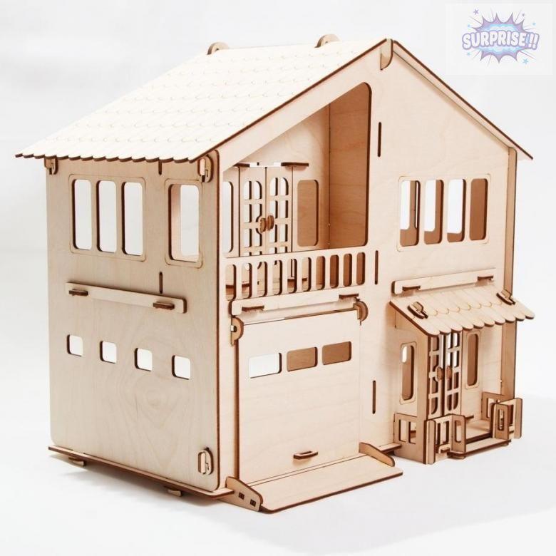 """Кукольный домик """"Дом с гаражом"""""""