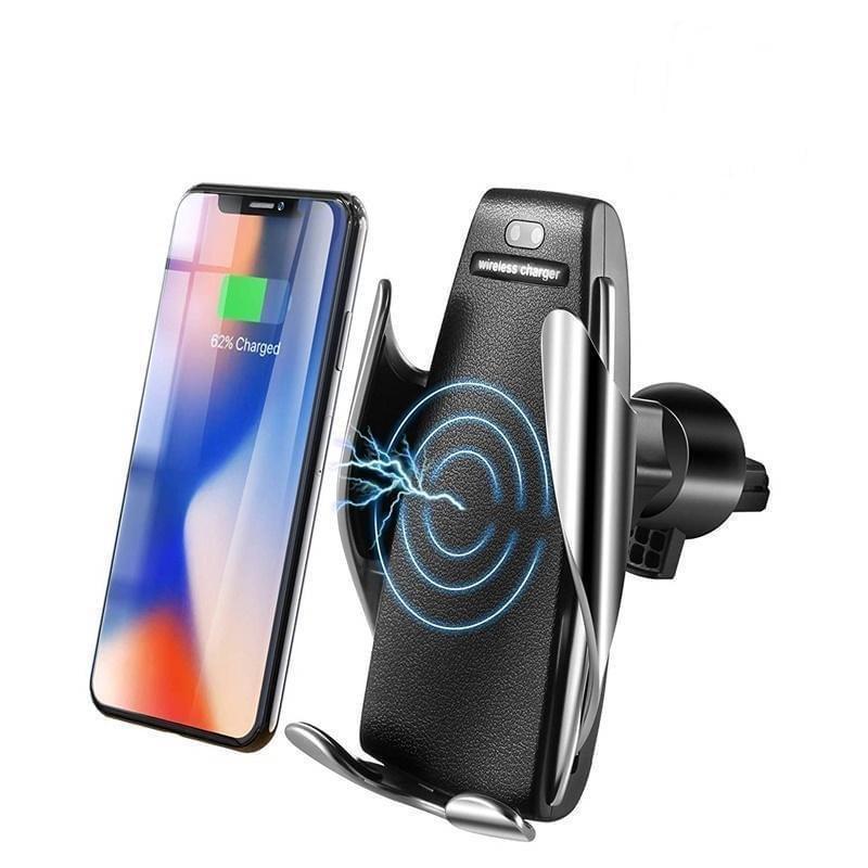 Беспроводная автомобильная зарядка-держатель с сенсорным датчиком Penguin Smart SenSor S5 для Iphone и Samsung