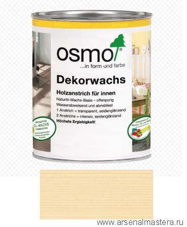 Прозрачная краска на основе масел и воска для внутренних работ Osmo Dekorwachs Transparent 3101 Бесцветное 0,75л