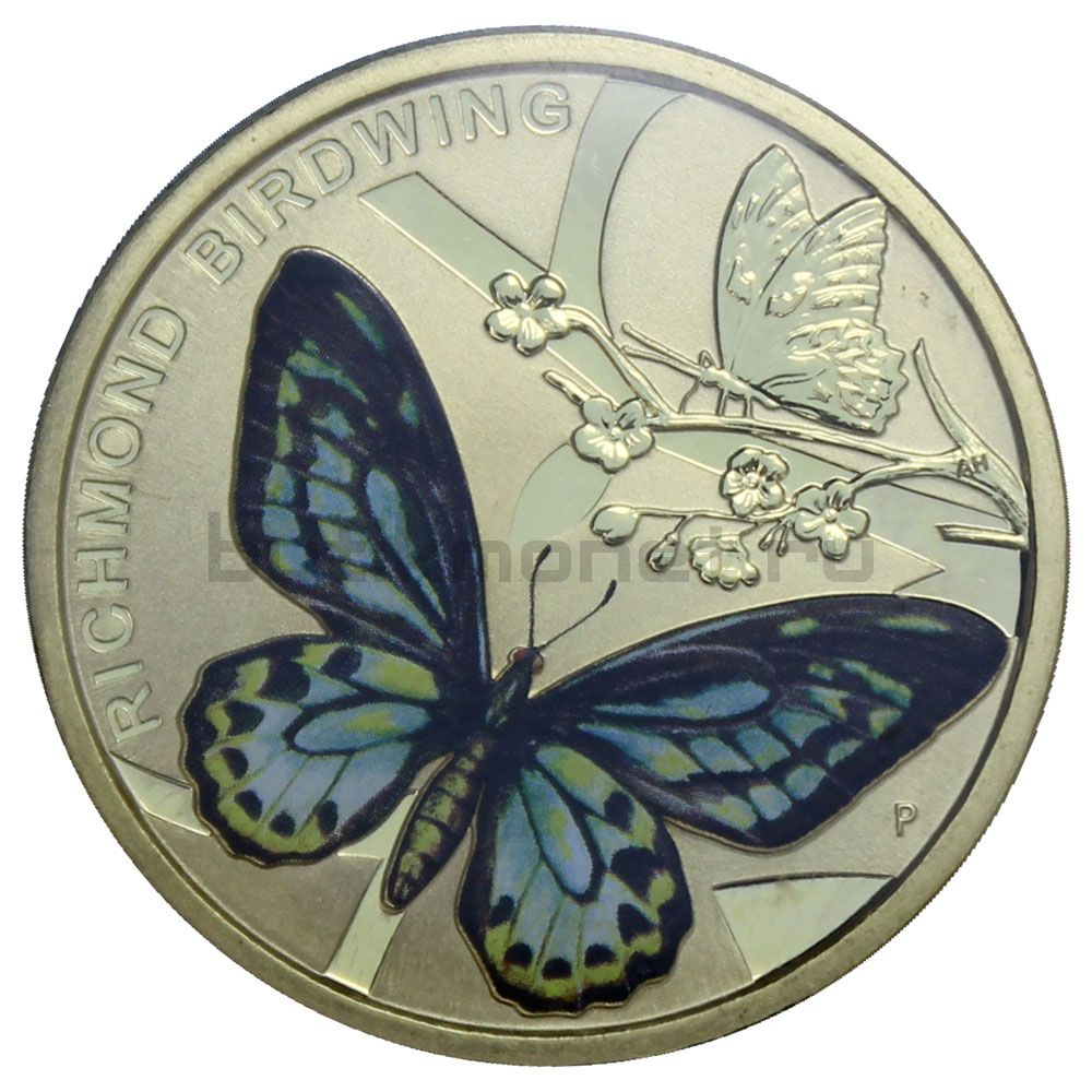 1 доллар 2016 Австралия Бабочка