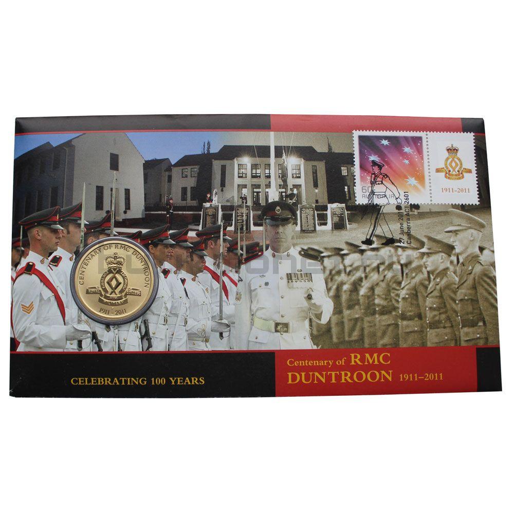 1 доллар 2011 Австралия 100-летие Королевского военного колледжа в Дантруне (В буклете)