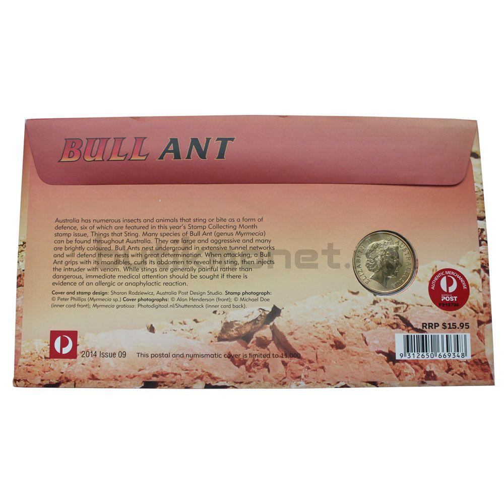 1 доллар 2014 Австралия Красный муравей-бульдог (В буклете)