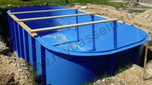 Бассейн из полипропилена 3*2 h1,5м  с комплектом оборудования