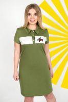 Платье арт.0747-65 хаки, кулирка