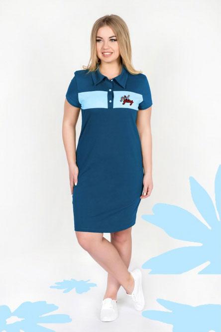 Платье арт.0747-54 индиго, кулирка
