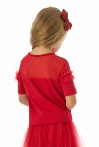 Красная блузка для девочки