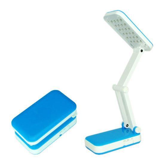Лампа настольная TOP WELL LED, цвет голубой