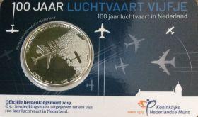 100 лет авиации 5 евро Нидерланды  2019
