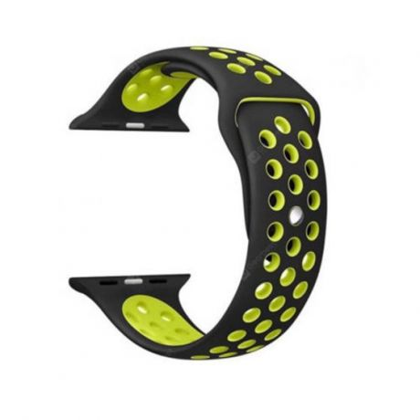 Ремешок для Apple Watch COTEetCI W12 Sports Dot Watchband 42 мм/44 мм спорт (черный с зеленым)