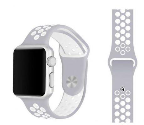 Ремешок для Apple Watch COTEetCI W12 Sports Dot Watchband 42 мм/44 мм спорт (белый с серым)