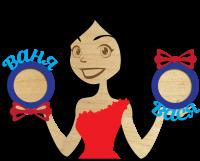 Детская метрика девушка с фоторамками в руках на заказ