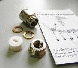 Сальник для ввода кабеля в трубу AKS-1 (силиконовый уплотнитель,резьба ½ дюйма , инструкция)
