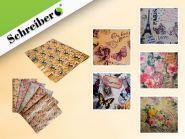Подарочная бумага КРАФТ 75х51 см, 80 г., дизайны в ассортименте (арт. S 8449)