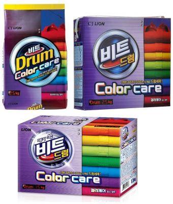 Lion Beat Drum Color Care Стиральный порошок для цветного белья автомат с системой защиты цвета 1,5 кг