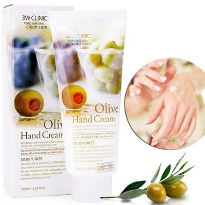 Крем для рук Олива Мягкость и Увлажнение 3W Clinic Moisturizing Olive Hand Cream 100мл