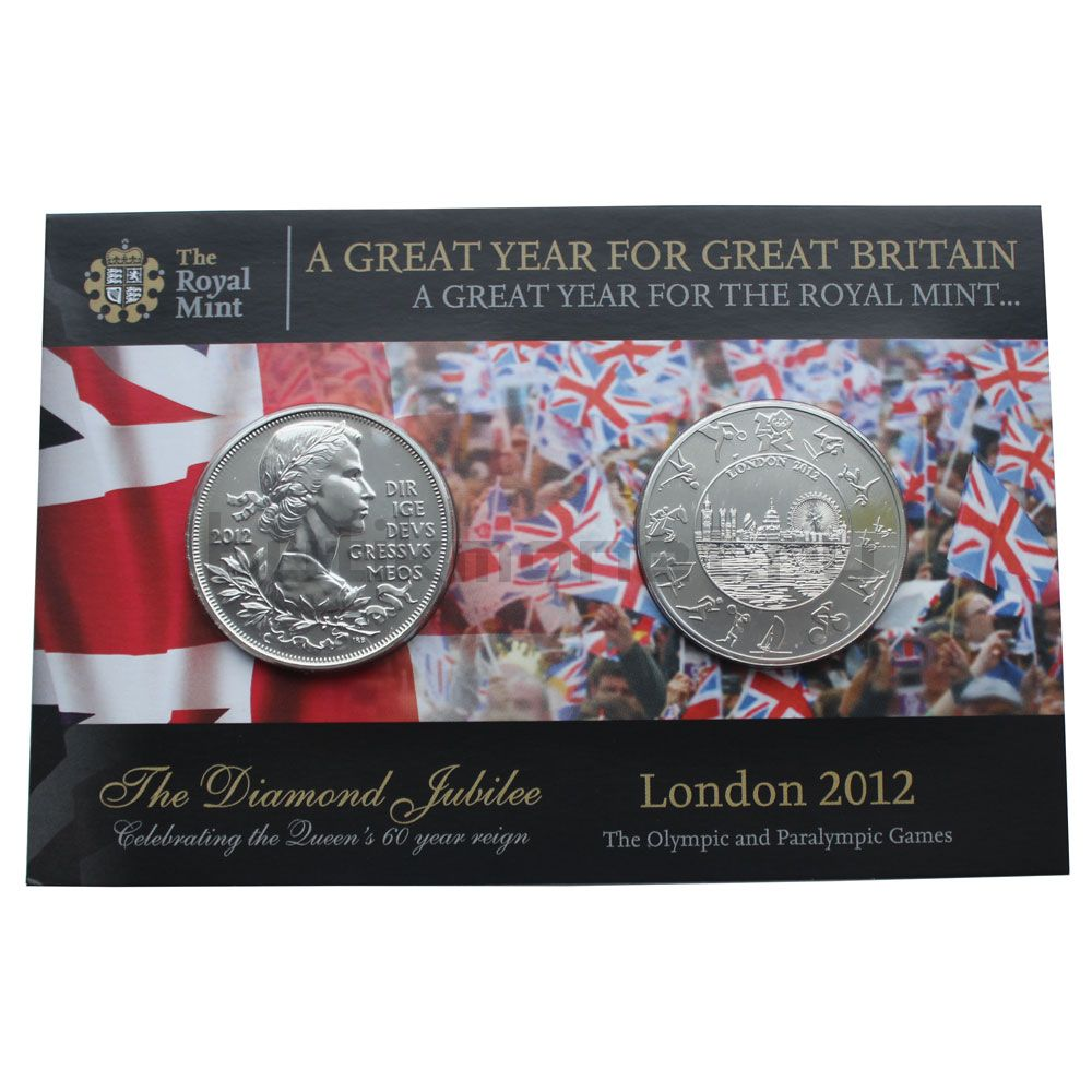 Набор монет 2012 Великобритания Буклет Royal Mint (2 штуки)