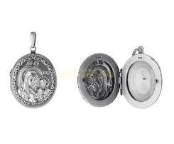 """Посеребренный медальон для фото """"Богородица"""" (арт. 788083)"""