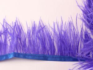 Перо страуса 7-9 см на тесьме, цвет №036 (1уп = 1 метр)
