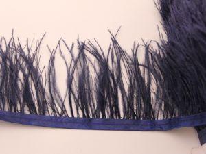 Перо страуса 7-9 см на тесьме, цвет №042 (1уп = 1 метр)