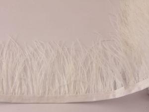 `Перо страуса 7-9 см на тесьме, цвет №027 (1уп = 20 см)
