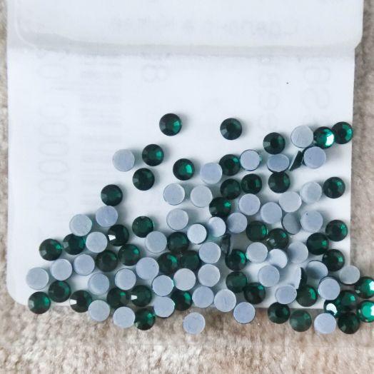 Стразы стеклянные клеевые, цвет Св. Морская волна