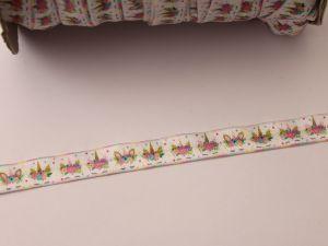 Бейка эластичная с рисунком, ширина 16 мм, длина 10 метров, ЛБ0008