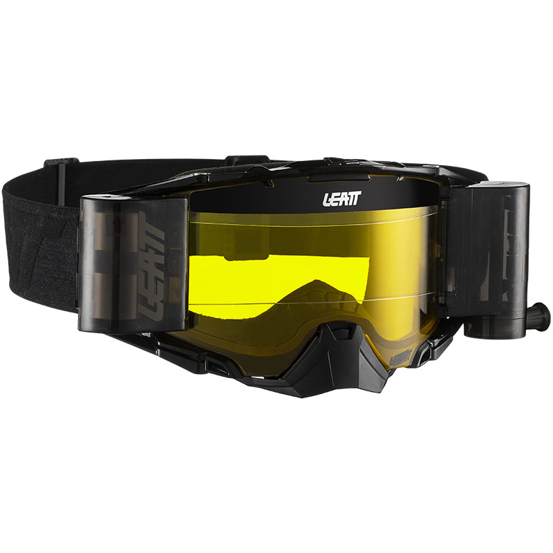 Leatt Velocity 6.5 Roll-Off Black/Grey Yellow 70%, очки для мотокросса и эндуро