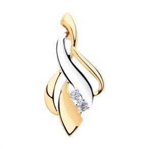 Подвеска из золота с фианитами SOKOLOV 035547 золото 585