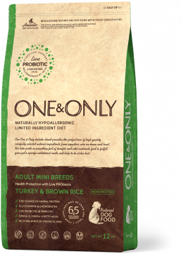 ONE & ONLY Индейка с бурым рисом для собак мини-пород