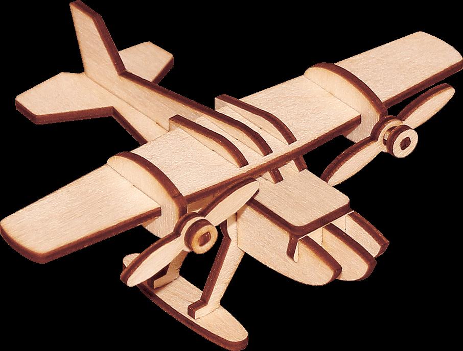 Деревянный конструктор самолет «Водный»