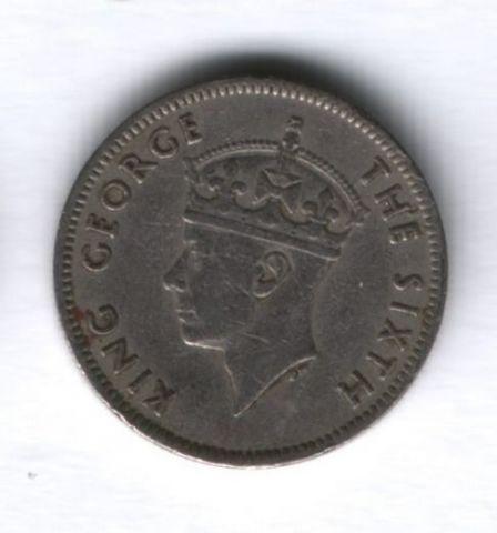 1/4 рупии 1950 года Маврикий