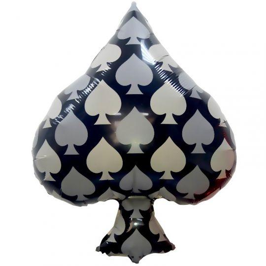 Пики Карточные масти шар фольгированный с гелием