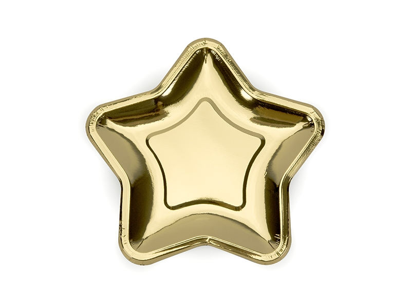 Тарелки Звезды золотые