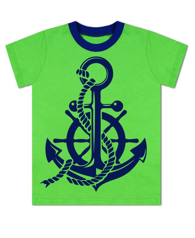 Зелёная футболка для мальчика