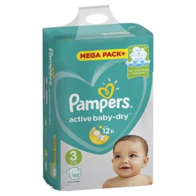 Pampers Active Baby-Dry 5-9кг, 152шт (3)