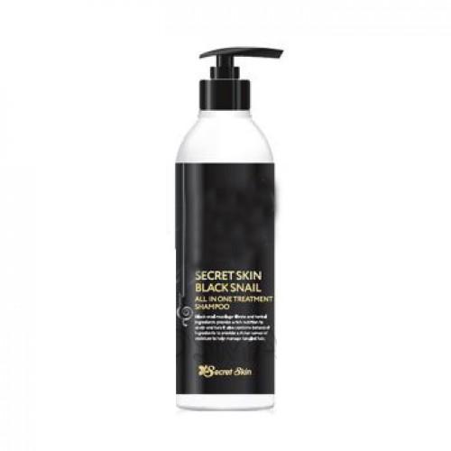 Шампунь для волос с экстрактом слизи черной улитки SECRETSKIN BLACK SNAIL ALL IN ONE TREATMENT SHAMPOO 250мл