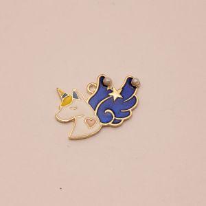 """Подвеска """"Единорог с крыльями"""", цвет: синий, размер: 30*20мм (1уп = 10шт), КБС0340-2"""