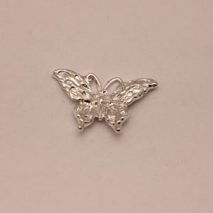 """Кабошон металл """"Бабочка"""", цвет: серебро, размер: 29*19мм (1уп = 10шт), КБС0359-2"""