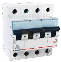 403960 Авт.выключатель TX3 C25A 4П 6000/10kA Legrand