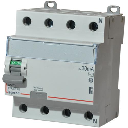 411800 Дифф.выключатель (УЗО) DX3 4П 40А AS 300мА N спр. Legrand