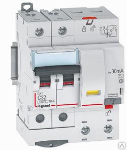 411151 Дифф.выключатель (УЗО) DX3 2П C20А 10MA-AC 4м, Legrand